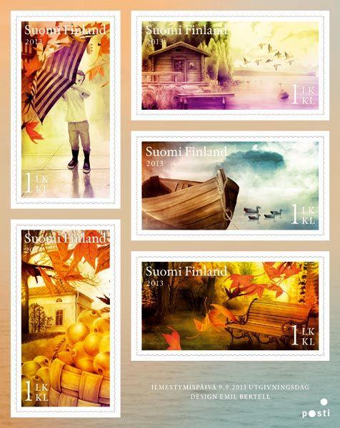 €4.25 Syksyn merkit - viiden (5) postimerkin pienoisarkki