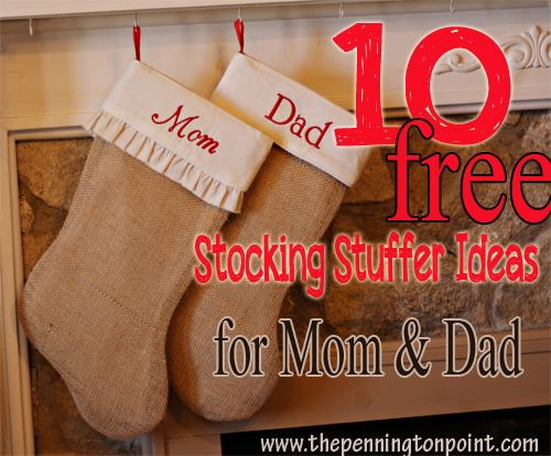 110 best christmas stockings images on pinterest christmas crafts 10 free stocking stuffer ideas for mom and dad solutioingenieria Image collections