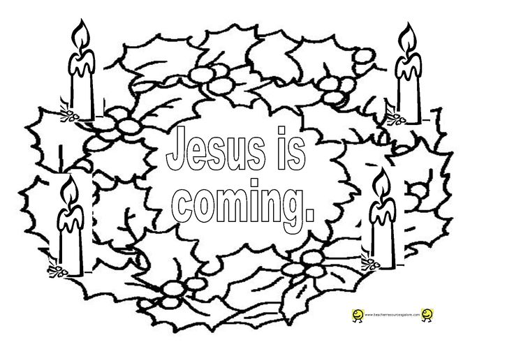 Advent Wreath Coloring Page | Advent coloring, Coloring ...