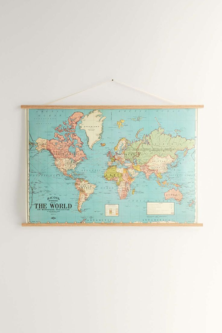 Hanging World Map Art Print - Urban Outfitters