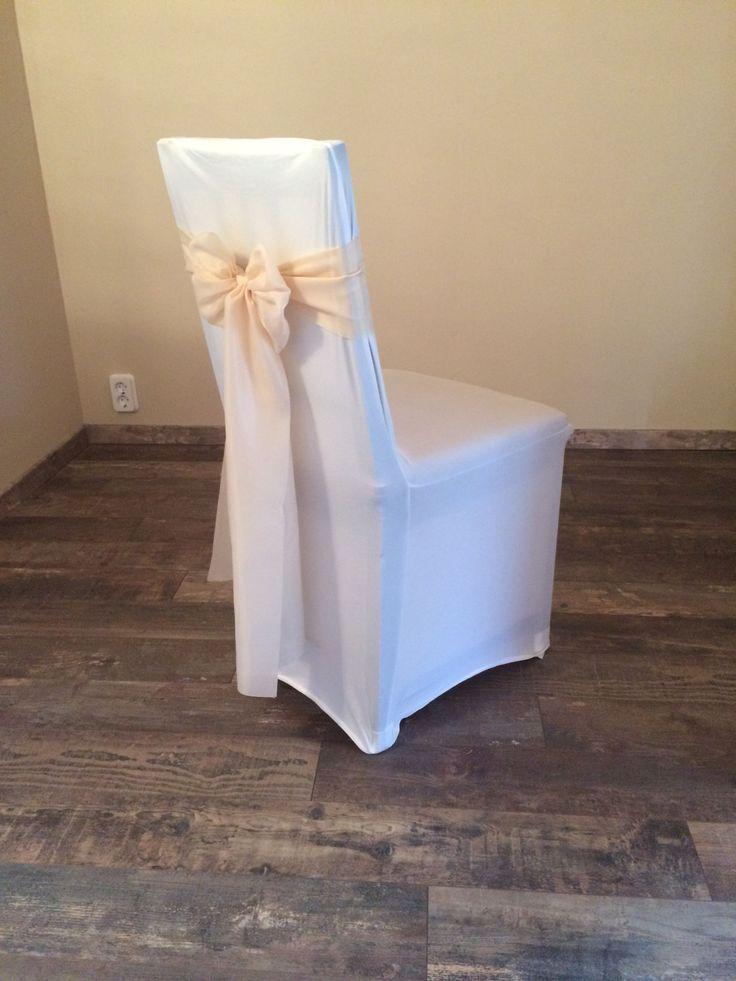 Bérelhető spandex székszoknya krém színű selyem masnival Érd