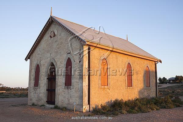 Print featuring Methodist Church, built 1885, Silverton, New South Wales, Australia.