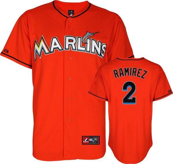 ... Miami Marlins 2 Hanley Ramirez Orange MLB Jerseys ... d39e71346