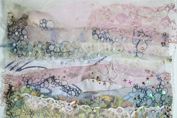 Emily Notman - layers of fabric making textures