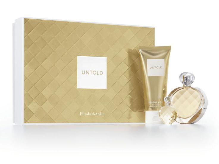 Le coffret Untold d'Elizabeth Arden comprenant le parfum en 50 ml (60 euros), la crème parfumée pour le corps en 100 ml (24,90 euros) et une miniature de 5 ml, 62 euros