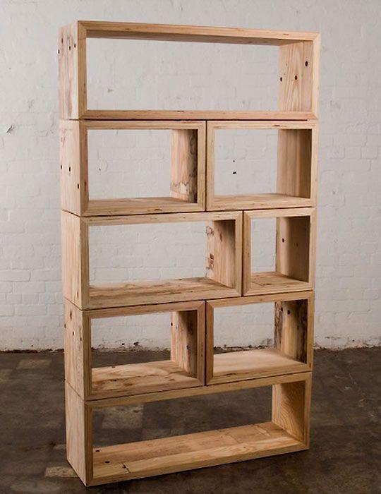 Stacked Wood Shelf