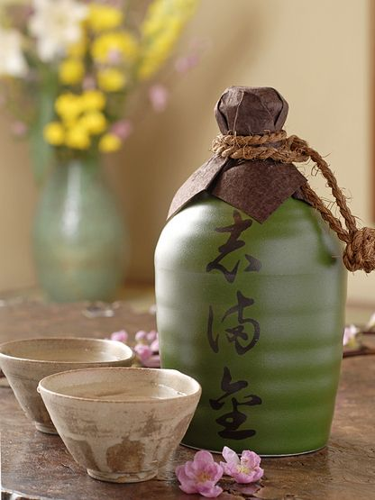 Japanese drinks might include Shochu or saki served in traditional decanters #LoveSobeys