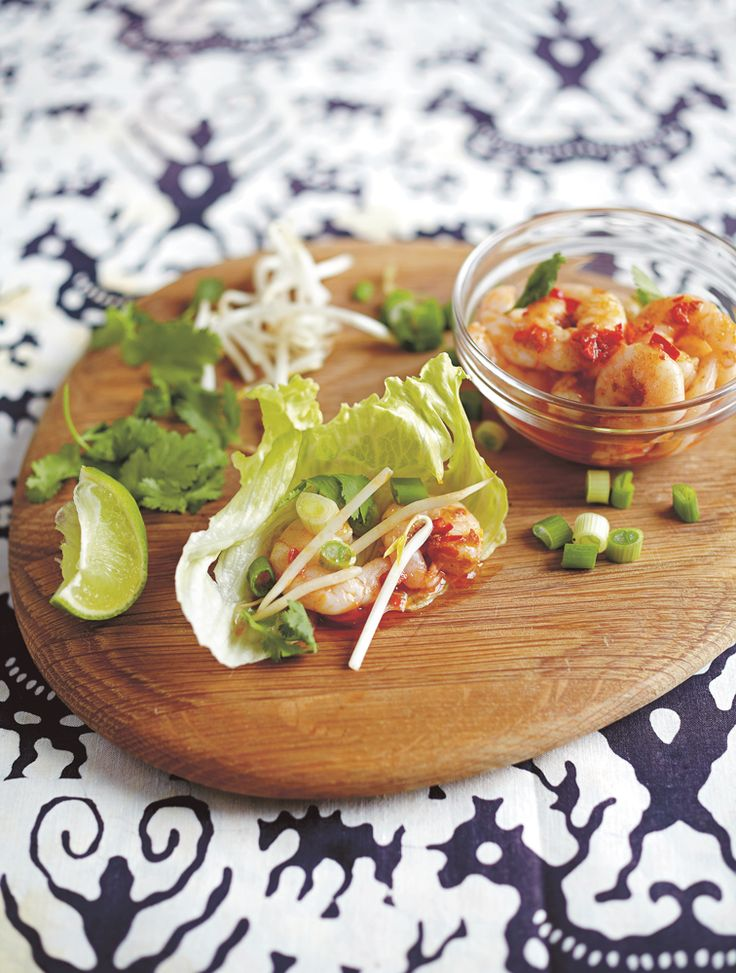 Amp up Spring with Jamie's red thai prawn & lettuce parcels #Thai #Prawn