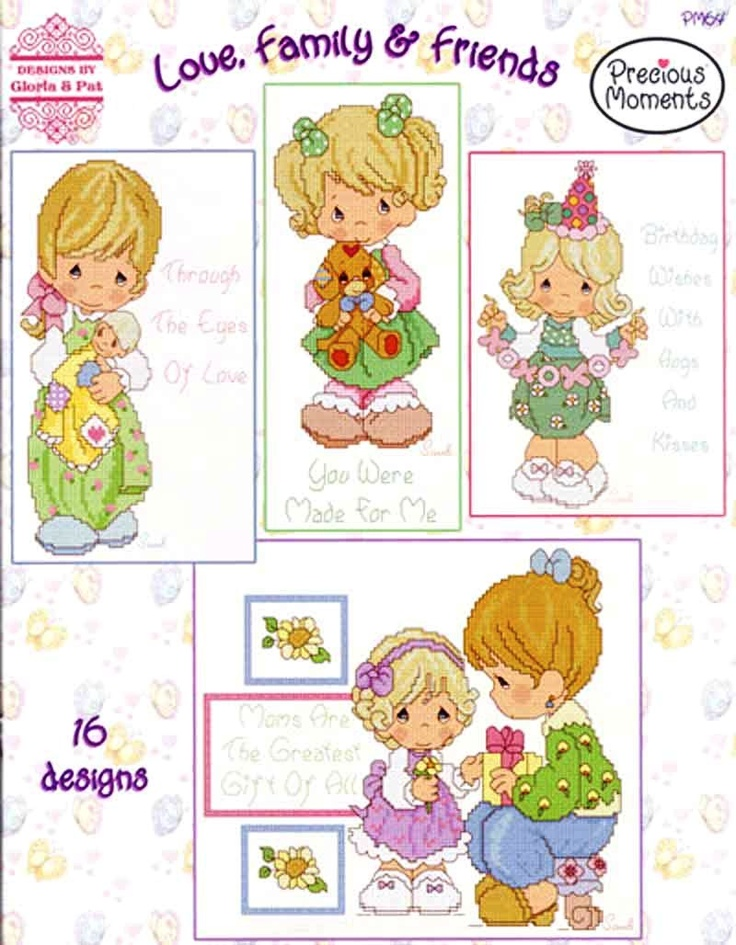 Precious Moments Counted Cross Stitch Charts Book ~ LOVE FAMILY AND FRIENDS