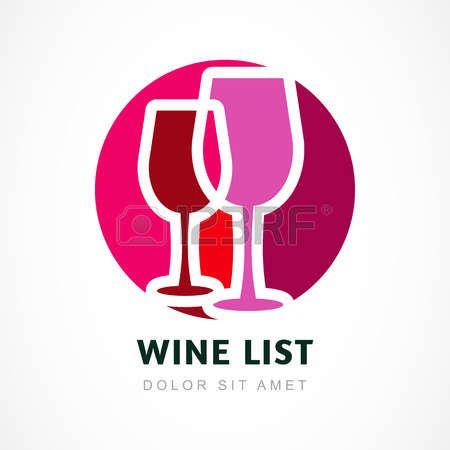 Astratto logo modello di progettazione. Red icona cerchio vino. Concetto per il menu bar, partito, bevande alcoliche, feste di celebrazione. photo