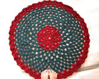 Trapillo rug crochet 1 m in diameter.