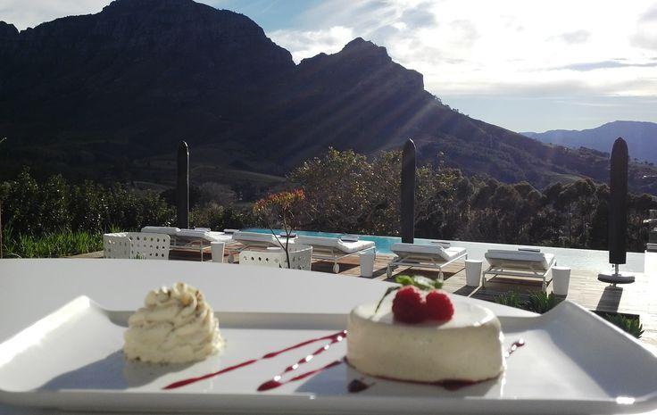 Panna cotta with a view #Stellenbosch #pannacotta #Cloudsestate http://cloudsestate.com/home-8.html
