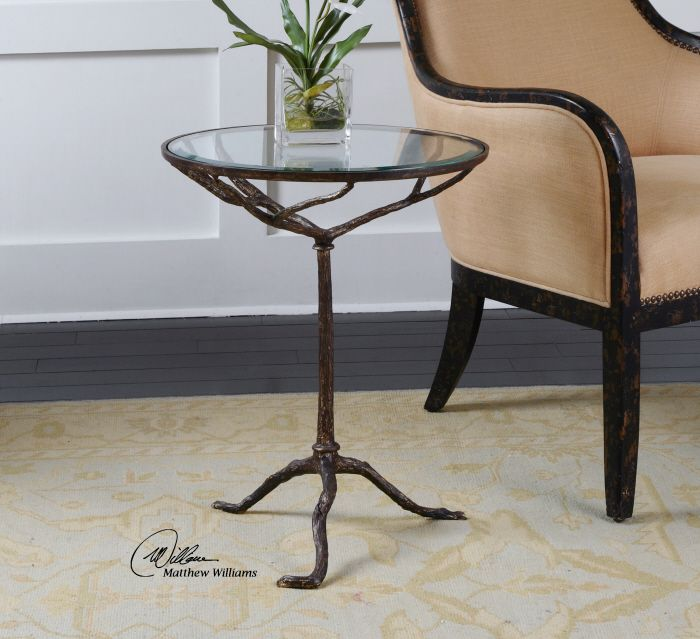 Uttermost Sadira Accent Table Heavy Cast Iron Occasional