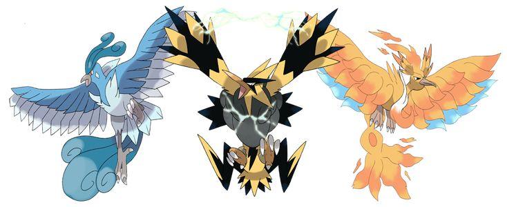 Mega Articuno, Mega Zapdos and Mega Moltres by Phatmon on DeviantArt