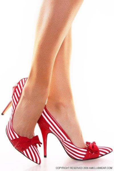 Candy Cane-esque heels - perfect for Christmas ...