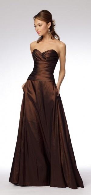 chocolate taffeta dress