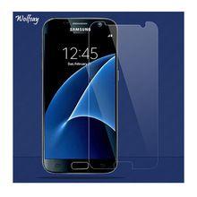 2 UNIDS Para Protector de Pantalla de Cristal Templado Samsung Galaxy S7 Para Samsung Galaxy Glass Para Samsung S7 S7 Película Teléfono G9300 Wolfsay(China)