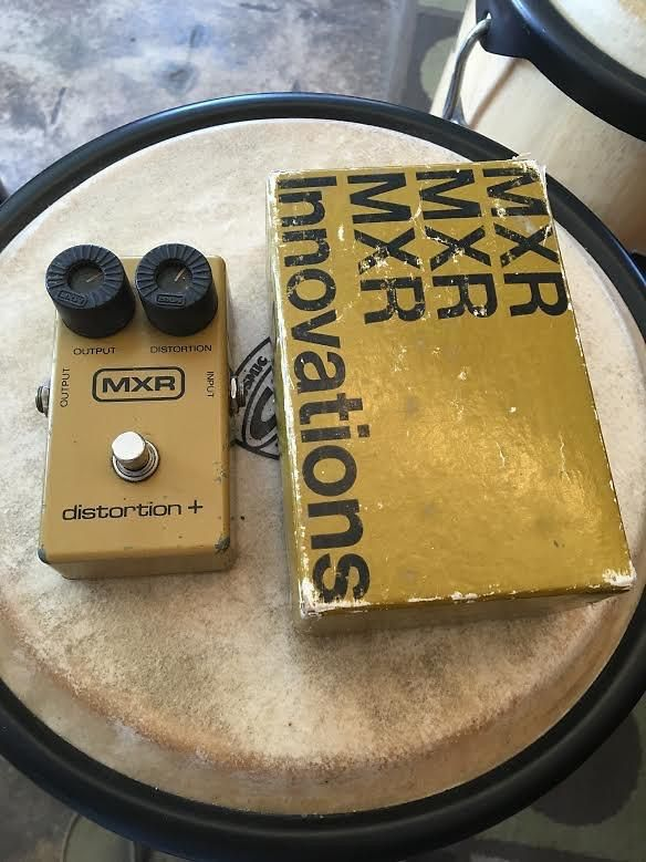 MXR Distortion + c. 1979 Mustard yellow Vintage