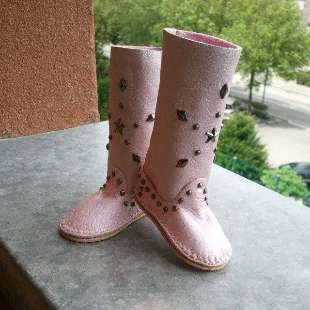 #Style4Bjd #Feeple60 #Indianini #boots #bjd #sd #doll #handmade # shoes #Mirwen #Fairyland #abjd #Boho #leather #suede #metal #studs #clothes #dress #lace #pink #glitter