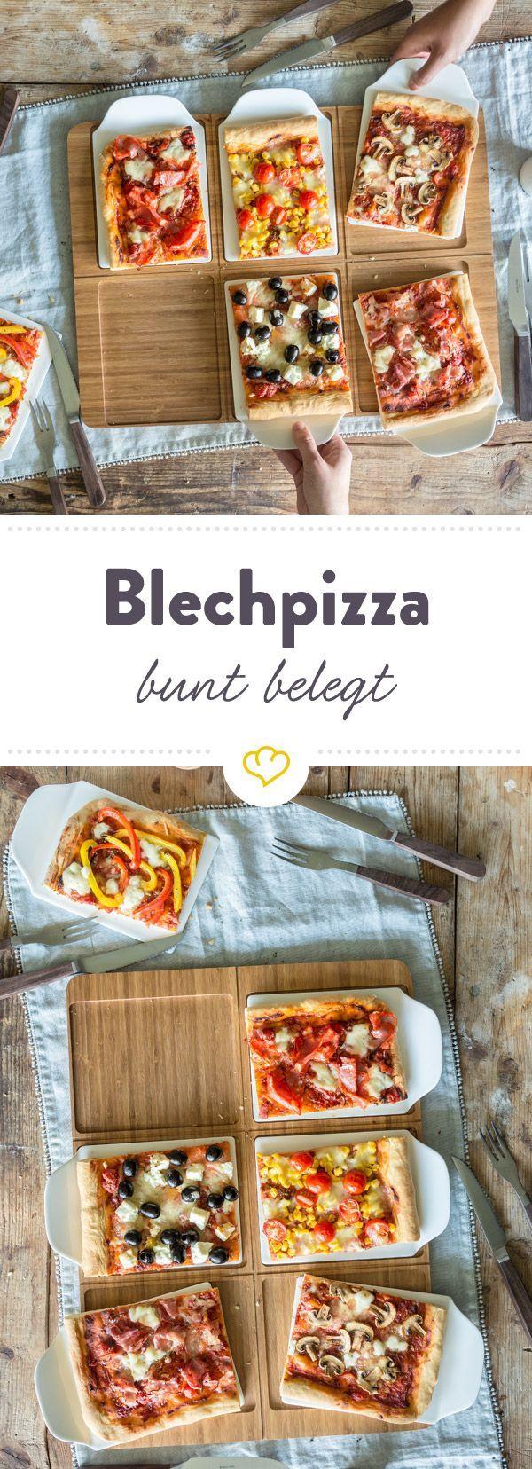 Drauf darf, was du am liebsten magst. Ob wild gemischt, streifenweise belegt, vegetarisch oder mit Fleisch - servier deinen Gästen eine neue Pizzakreation.