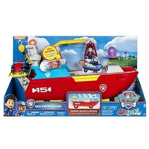 Paw Patrol Sea Patroller Vehicle Transforming Rescue Ship ATV Crane Toy Gift  #Nickelodeon
