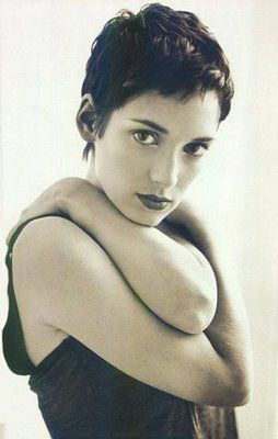 No short hair experience is complete without the Winona Ryder influence