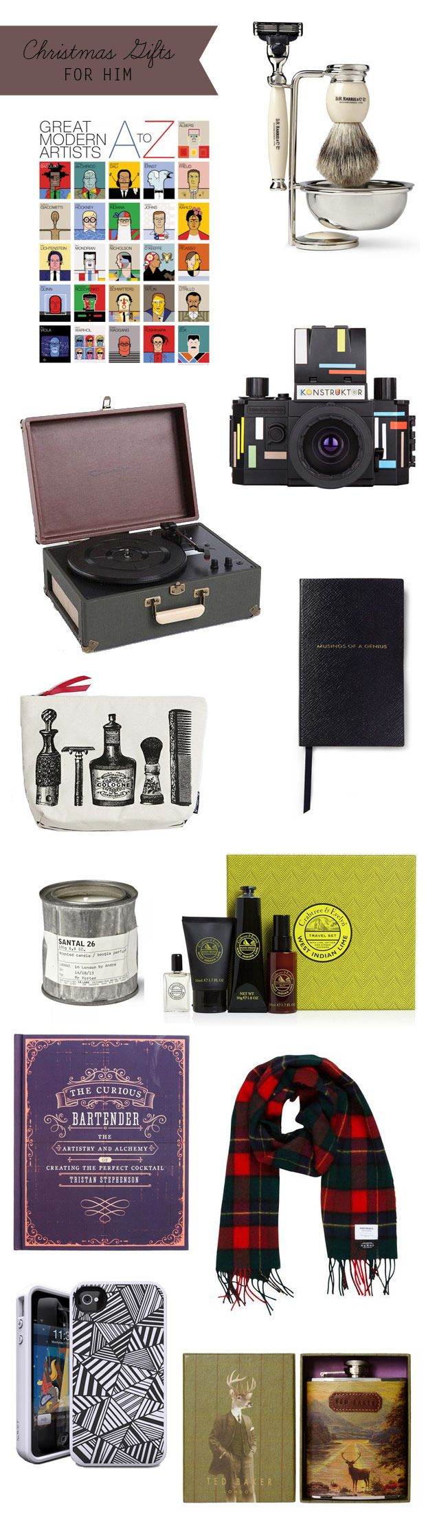 Christmas Gift Guide for Him | onefabday.com