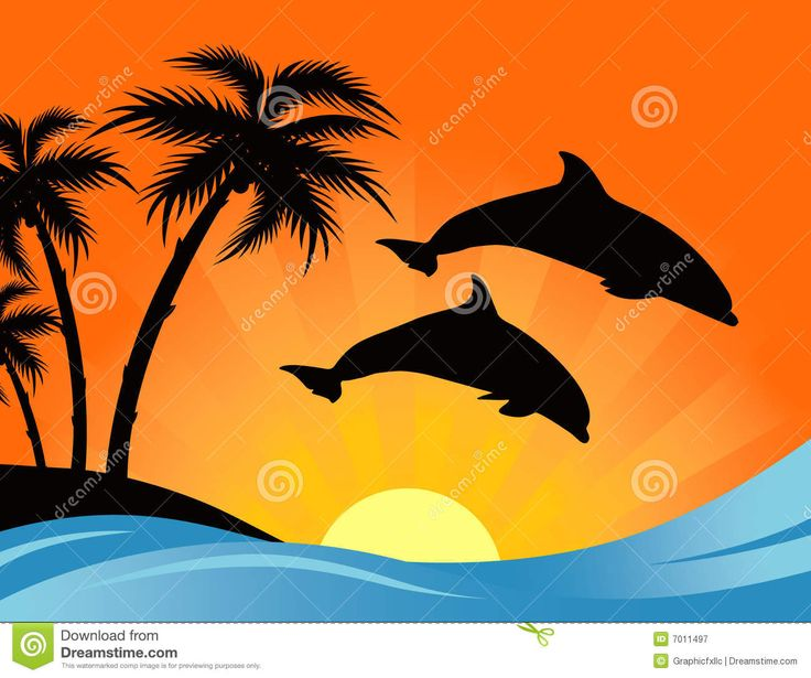 animated ocean dolphin palm trees - Google Search | Tattoos and ...