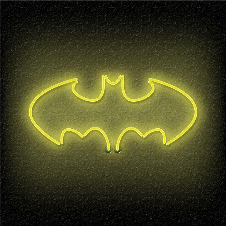 Neon Batman Logo HD Wallpaper For IPad