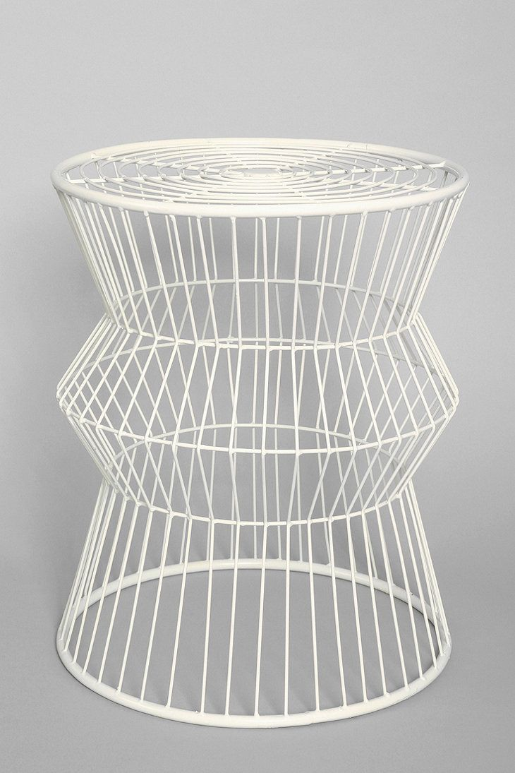 Wire Accent Table in White
