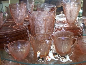Pink Cherry Blossom Depression Glass - I enjoy collecting this glassware, is so pretty