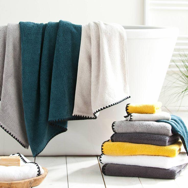 Drap de bain coton low twist* 550 gr/m2 Issey Harmony - 3Suisses