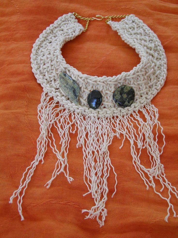 Statement Crochet necklace , summer 2014