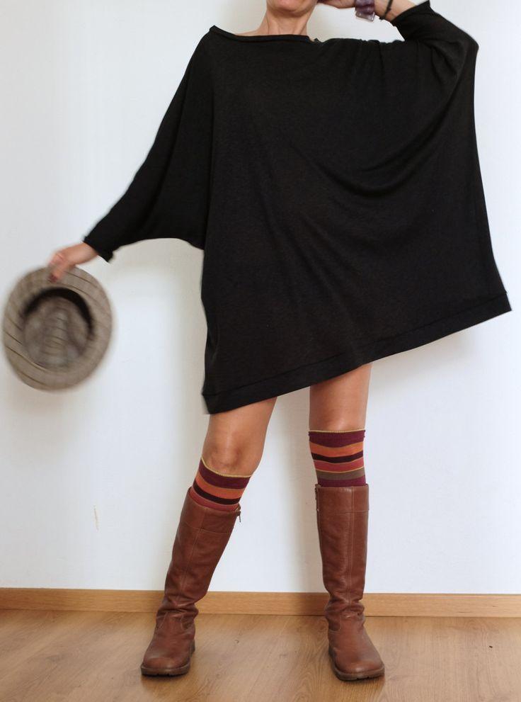 Oversized Sweater - Sweater Dress - Plus Size Clothing - Wool Kaftan - XXL Sweater - Curvy Women - Plus Size - Wool Sweater - Handmade (125.00 CHF) by atelierPop