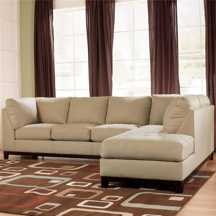 Signature Design By Ashley Fusion   Khaki Contemporary Sectional Sofa With  Right Facing Chaise   Miskelly Furniture   Sofa Sectional Jackson,  Mississippi