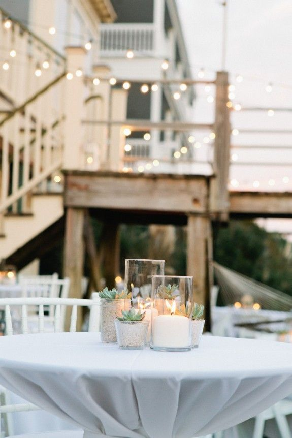 Charleston Weddings - Pink Flaming Beach House - Party.Love.Birds - Erin McGinn Photography - Tiger Lily Weddings - Cru Catering - Folly Beach Weddings - Succulents - Dessert Bar - WildFlour Pastry