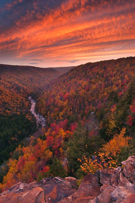 I am getting very excited about shooting fall once again the mountains of WV. This was our best light display from last year captured from Pendelton Point overlooking the Blackwater Canyon.