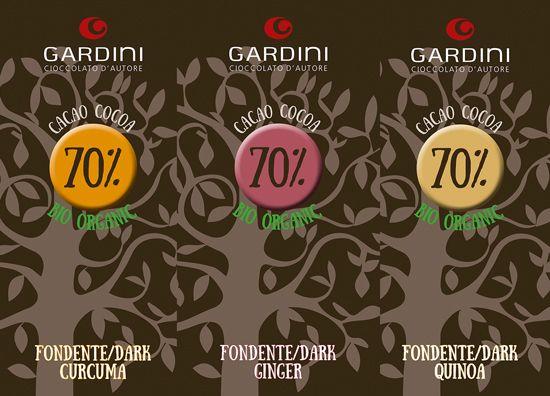 Nu har bröderna Gardini lanserat en ny serie choklad med trendiga smaksättningar och de är alla tre ekologiskt certifierade. Är det möjligtvis första gången du testar mörk choklad med gurkmeja? ;)  #Gardini #smakerutangränser #ekologisk #choklad #ingefära #gurkmeja #quinoa #Beriksson