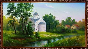 Подарки и сувениры: Церковь - Картины с церквями <- Картины маслом <- ...