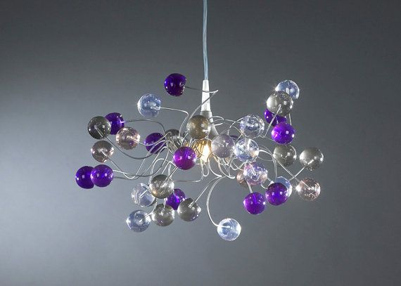 Ceiling lamp Midnight color bubbles by Flowersinlight on Etsy, $119.00
