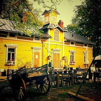 #helsinki #house #yellow #cafe