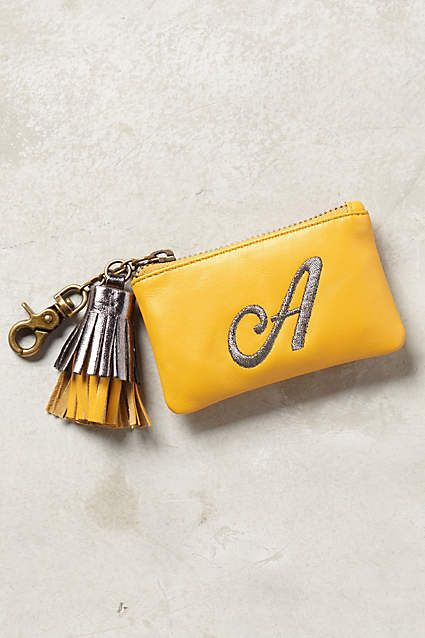 Personalized pouch with tassel