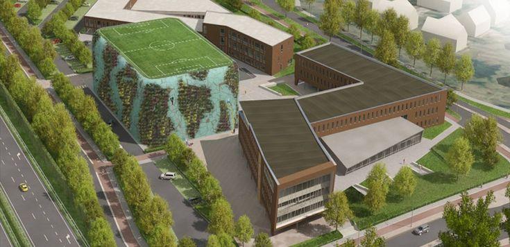 Inrichtingsplan voor een ontwikkellocatie langs rijksweg A58 met scholen, sport…