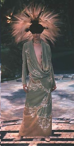 Erin O'Connor for Alexander McQueen at Givenchy Couture show   - 1998-99  -