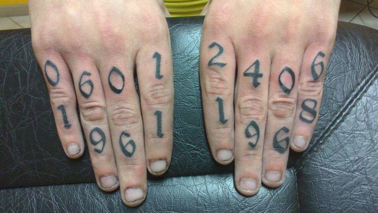 tattoo tatouage lettrage lettre chiffre doigt tatouages filou lettrage pinterest. Black Bedroom Furniture Sets. Home Design Ideas