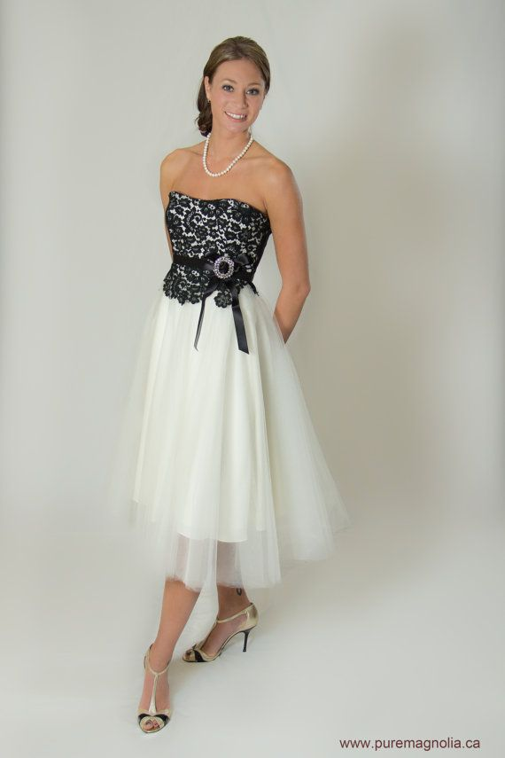 Short lace wedding dress 50s style by puremagnoliacouture for 50 s style short wedding dresses
