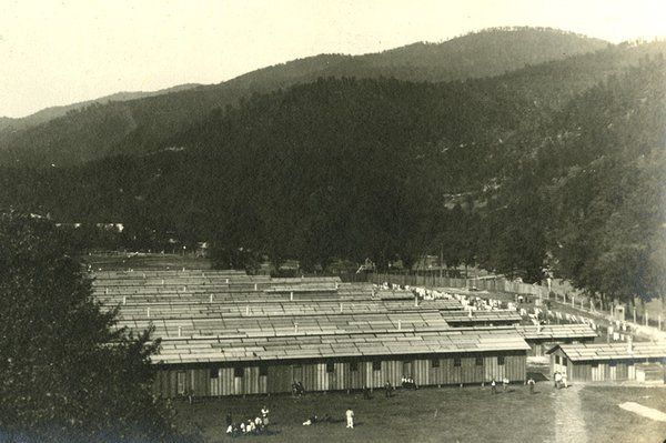 One of the four alien detainee camps constructed in the United States during WWI. This particular camp was located on the grounds of the Mou...