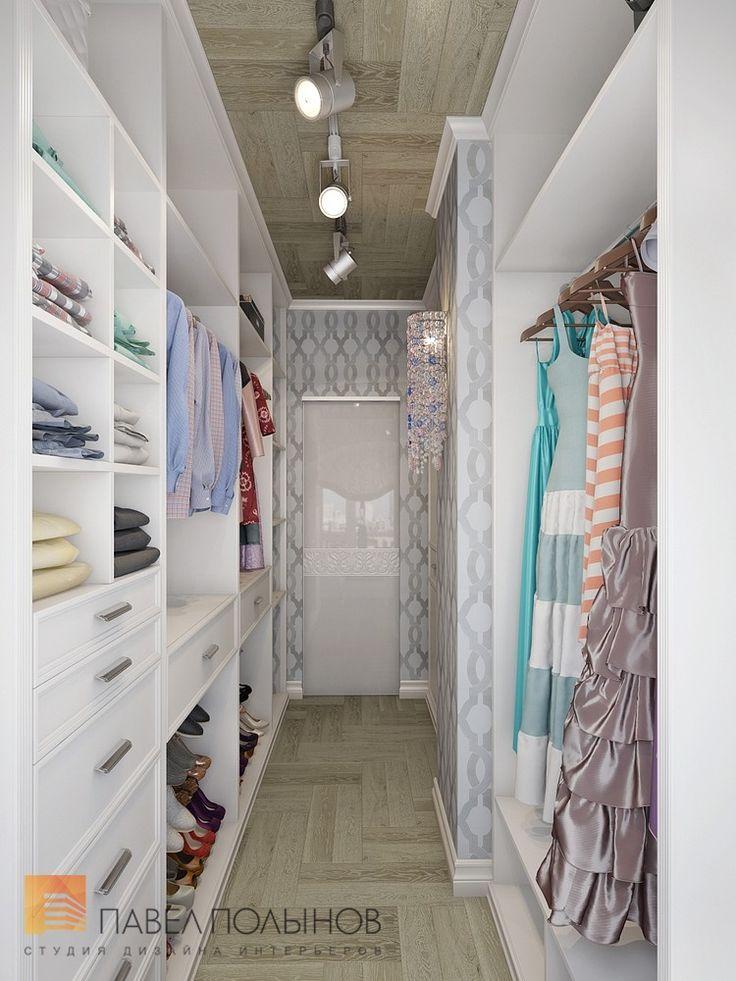 Фото: Дизайн интерьера гардеробной комнаты - Двухуровневая квартира в неоклассическом стиле, ЖК «Жилой дом на Пионерской», 208 кв.м.