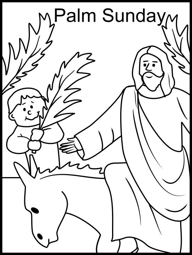 Palm Sunday Coloring page Catholic