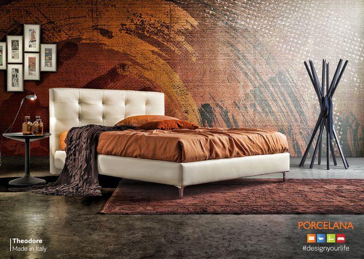 Χαρίστε στο χώρο της κρεβατοκάμαρας την γήινη αίσθηση επιλέγοντας ζεστά χρώματα & το #stylish κρεβάτι «Theodore», Ιταλικού #design! #Designyourlife @ Porcelana stores!